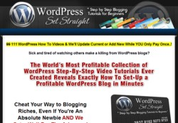 WordpressSetStraight.com Membership Pays 50% Affiliate Commission While Updates Monthly So Easier To Sell
