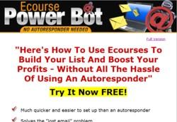 eCoursePowerbot.com Software Pays Out 50% Affiliate Commission