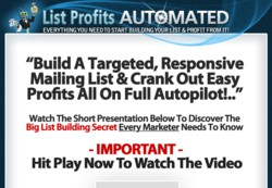 ListProfitsAutomated.com  Membership Pays 75% Monthly/Yearly Recurring Affiliate Commissions & 75% On The $147 Lifetime Purchase