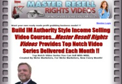 MasterResellRightsVideos.com Membership Pays 75% Recurring Affiliate Commissions For 7 Months