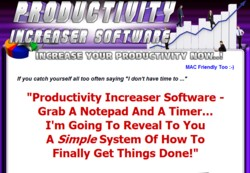 ProductivityIncreaser.com Software Pays Out 75% Affiliate Commission
