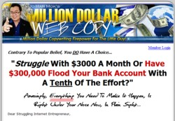 TheMillionDollarWebcopy.com Membership Pays 75% Affiliate Commissions