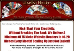 UnselfishHeaders.com Membership Pays 75% Recurring Affiliate Commissions For 14 Months