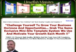 UnselfishMinisites.com Membership Pays 75% Recurring Affiliate Commissions