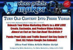 VideoArticleMaker.com Software Pays Out 75% Affiliate Commission