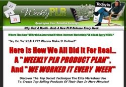 WeeklyPLR.com Membership Pays 75% Recurring Affiliate Commissions